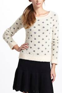 dotted wolly sweater